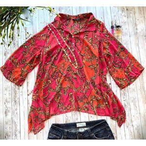 Zac & Rachel women's print blouse